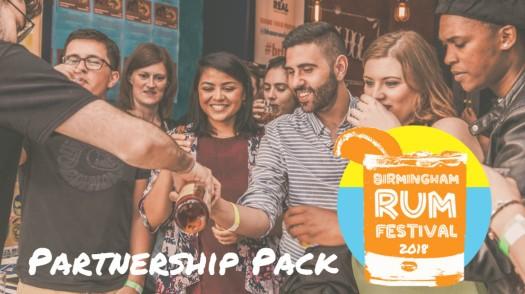 Birmingham Rum Festival 2018 Partnership Pack
